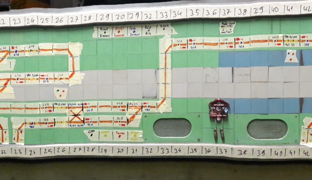Projets: Poste d'enclenchement électrique Domino du circuit